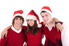 Happy christmas teens Stock Photo