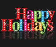 Happy Christmas text. Happy Christmas colorful bling bling text background Royalty Free Stock Photos