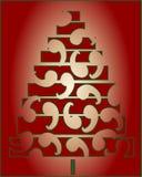 Happy christmas trees Royalty Free Stock Photos