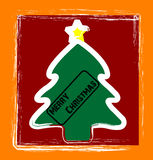 Happy christmas trees. Christmas Trees in a contemporary brushy childlike style Royalty Free Stock Photo