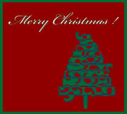 Happy christmas trees Royalty Free Stock Photo