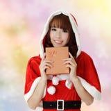 Happy Christmas woman Stock Photo