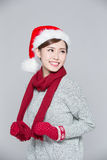 Happy Christmas Woman Royalty Free Stock Image
