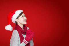 Happy Christmas Woman Stock Photography