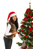 Happy Christmas woman Royalty Free Stock Images