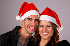 Happy christmas young couple Royalty Free Stock Image