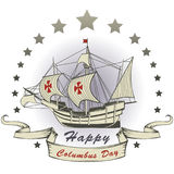 Happy Christopher Columbus Day Royalty Free Stock Photo