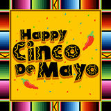 Happy Cinco De Mayo. A colorful illustration in celebration of the Mexican holiday Cinco De Mayo Stock Photo