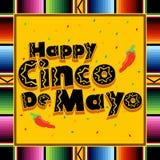 Happy Cinco De Mayo. A colorful illustration in celebration of the Mexican holiday Cinco De Mayo vector illustration