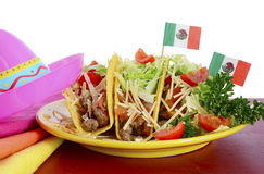 Happy Cinco de Mayo bright colorful party food Royalty Free Stock Images