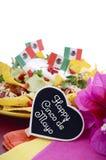 Happy Cinco de Mayo party table Stock Image