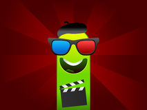Happy cinema monster character Stock Photo