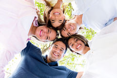 Happy circle of friends Royalty Free Stock Photo