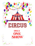 Happy circus poster Royalty Free Stock Photo
