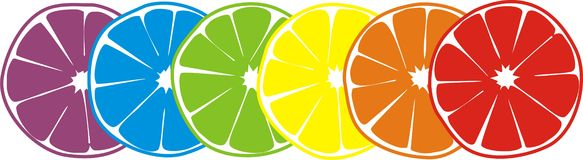 Happy citrus Royalty Free Stock Images