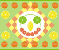 Happy citruses Stock Image