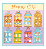 Happy city Stock Photo