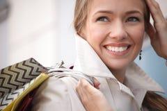 Happy city girl Stock Photos