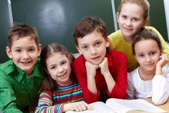 Happy classmates Royalty Free Stock Photos