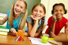 Happy classmates Stock Images