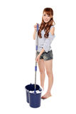 Happy cleaning Stock Photography
