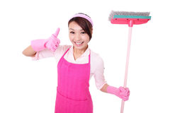 Happy Cleaning woman housewife Royalty Free Stock Photo
