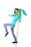 Happy cleaning woman portrait Royalty Free Stock Photography