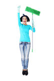 Happy cleaning woman portrait Royalty Free Stock Images