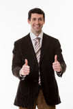Happy clerk. Royalty Free Stock Images