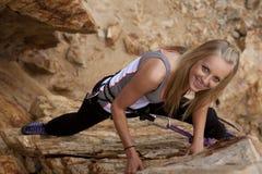 Happy climb Royalty Free Stock Images