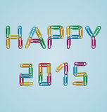 Happy 2015 clips background. Design a background with the date happy 2015 created with clips Stock Photo