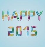 Happy 2015 clips background Stock Photo