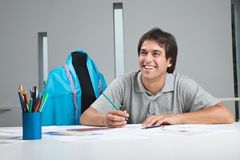 Happy Clothing Designer At Work Stock Photos
