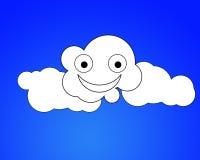 Happy Cloud. A very happy cartoon cloud Stock Image