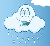 Happy Cloud Raining Cartoon Character Stock Photography