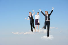 Happy cloud work Stock Photography