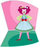 Happy Clown. Colorful, fun and smiling clown - ready to entertain the kids at a carnival, circus or birthday party royalty free illustration