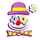 Happy clown. Drawing very happy clown face Royalty Free Stock Images