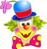 Happy Clown. Illustration isolated on white Stock Images