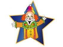 Happy clown. Illustration with happy clown in a star Royalty Free Stock Photography