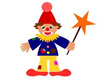 Happy clown. ( painting, illustration Royalty Free Stock Photo