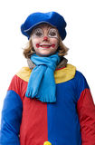 Happy clown. Cute little girl in a clown dress Stock Images