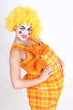 Happy clown with big abdomen Royalty Free Stock Photos
