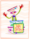 Happy clown birthday greeting Stock Photo