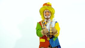 Happy clown clapping stock video