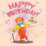Happy clown01color Stock Photography