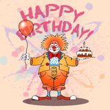 Happy clown02color Stock Images