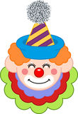 Happy Clown Face Royalty Free Stock Photo