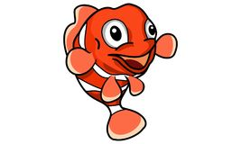 Happy Clown Fish. Clown Fish Cartoon vector with happy face Royalty Free Stock Image