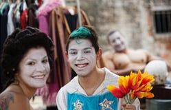 Happy Clown Friends Stock Photo
